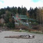 Railroad footbridge looking North
