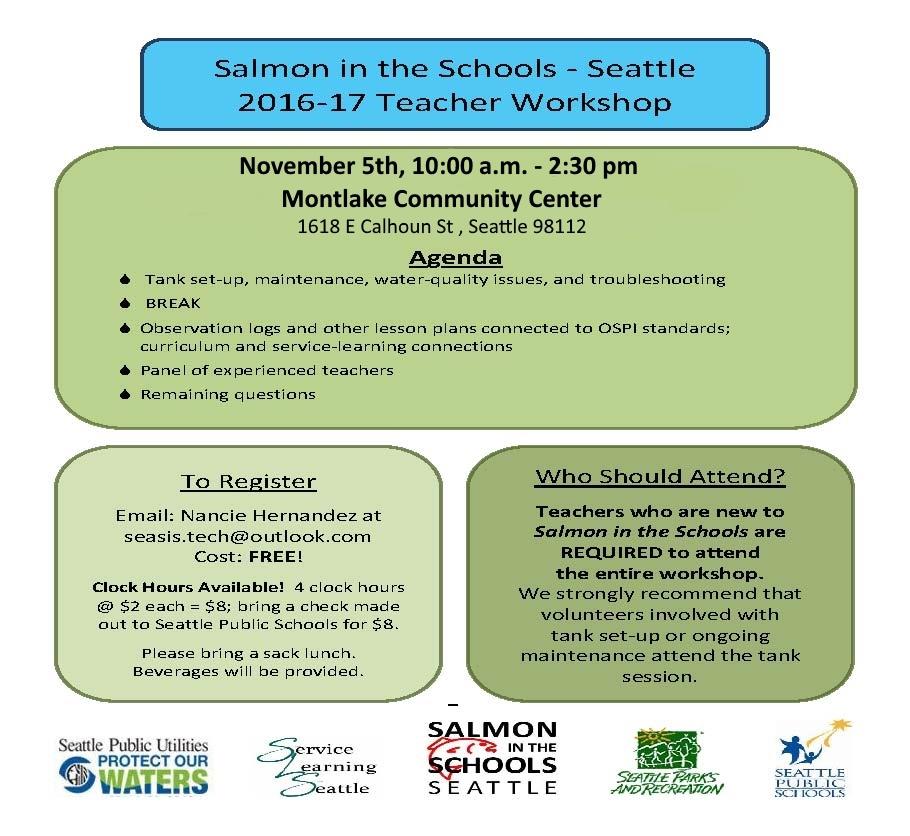 Salmon in the Schools Workshop for Teachers @ Montlake Community Center | Seattle | Washington | United States