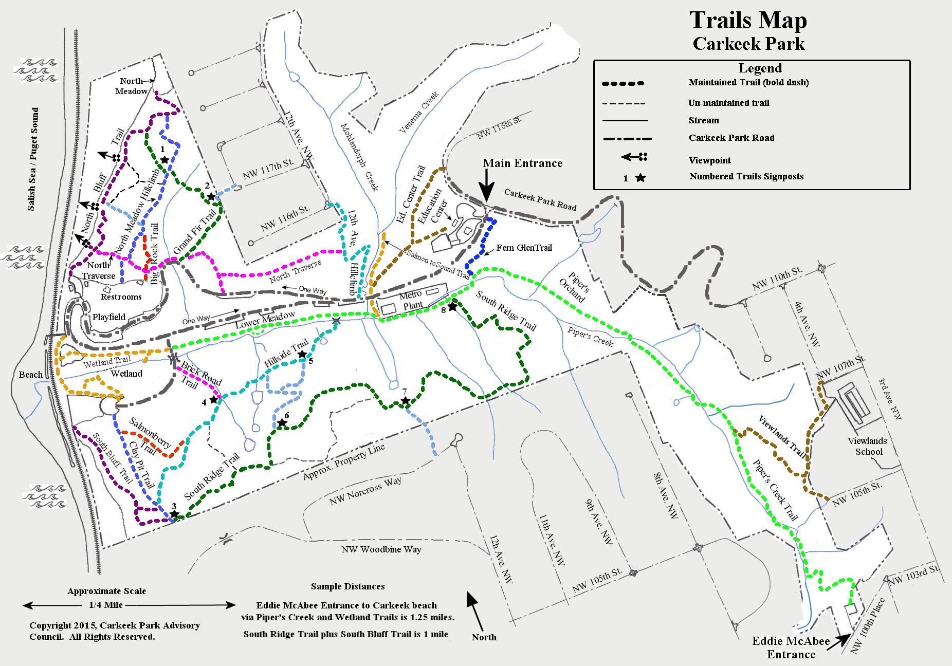 Carkeek Park Map Trails Map | Carkeek Park